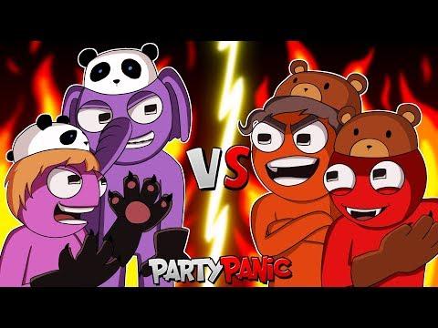 "Party Panic | ""Team Panda VS Team Bear"" | w/ Bryce, Sattelizer, Dracula"