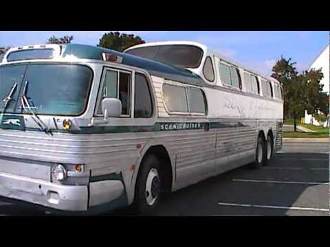Fully restored 1954 Greyhound Scenicruiser Bus PD4501-083 - YouTube