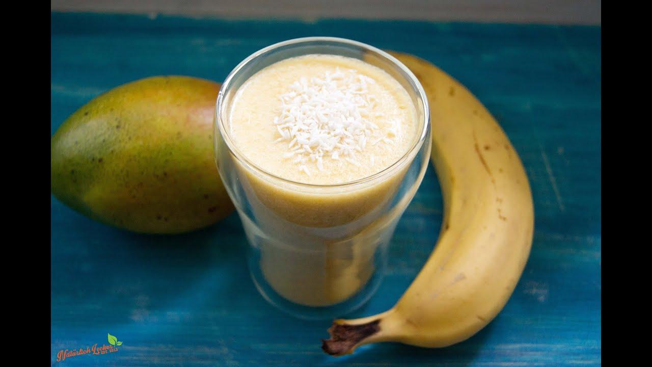 bananen kokos mango smoothie rezept und anleitung youtube. Black Bedroom Furniture Sets. Home Design Ideas