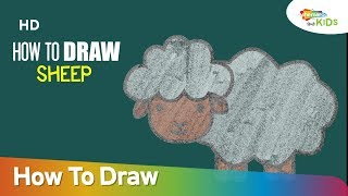 How To Draw Sheep (HD) | Step By Step Easy Drawing For Children | Shemaroo Kids Junior