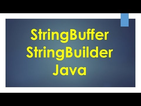 StringBuffer and StringBuilder in Java - YouTube