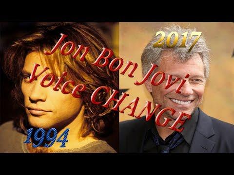 Jon Bon Jovi Voice Change ( Always  1994 - 2017)