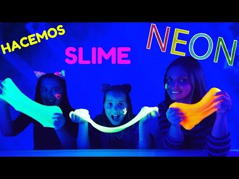SLIME NEON FLUORESCENTE ¡¡ Brilla en la oscuridad !! * Las Cosas de Lucía