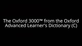 The Oxford 3000™ from the Oxford Advanced Learner's Dictionary (C) thumbnail