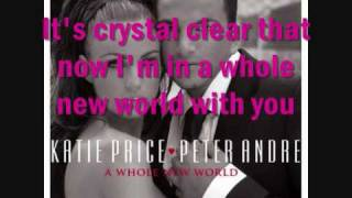 Katie Price And Peter Andre-A Whole New World Lyrics
