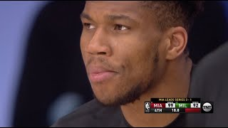 Giannis Watches From Sideline As Bucks Get Eliminated By Heat In Game 5