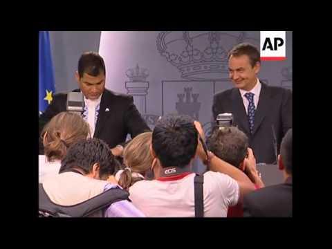Correa meets Zapatero, presser
