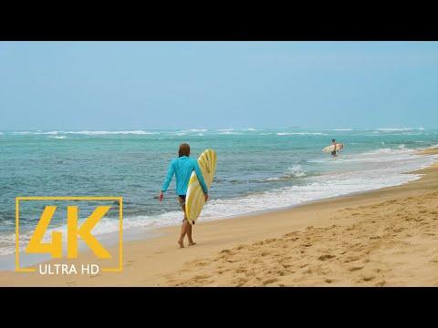 4K Hawaii, Oahu - Diamond Beach Head Park - Best Oahu Beaches Relaxation Video