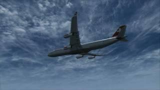 fsx - Swiss International Airlines A340 - Zurich to San Francisco
