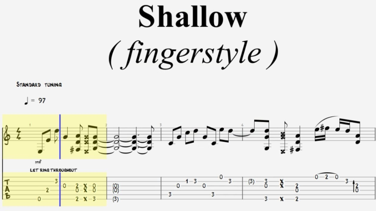 tablature shallow guitare