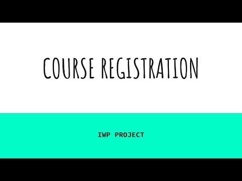 CSE 3002 Project : Online Course Registration