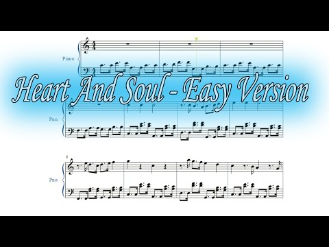 Heart and Soul (easy version) - [Sheets played Tutorial]