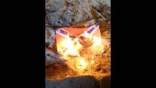 Confederate flag burning June 27th, 2015.