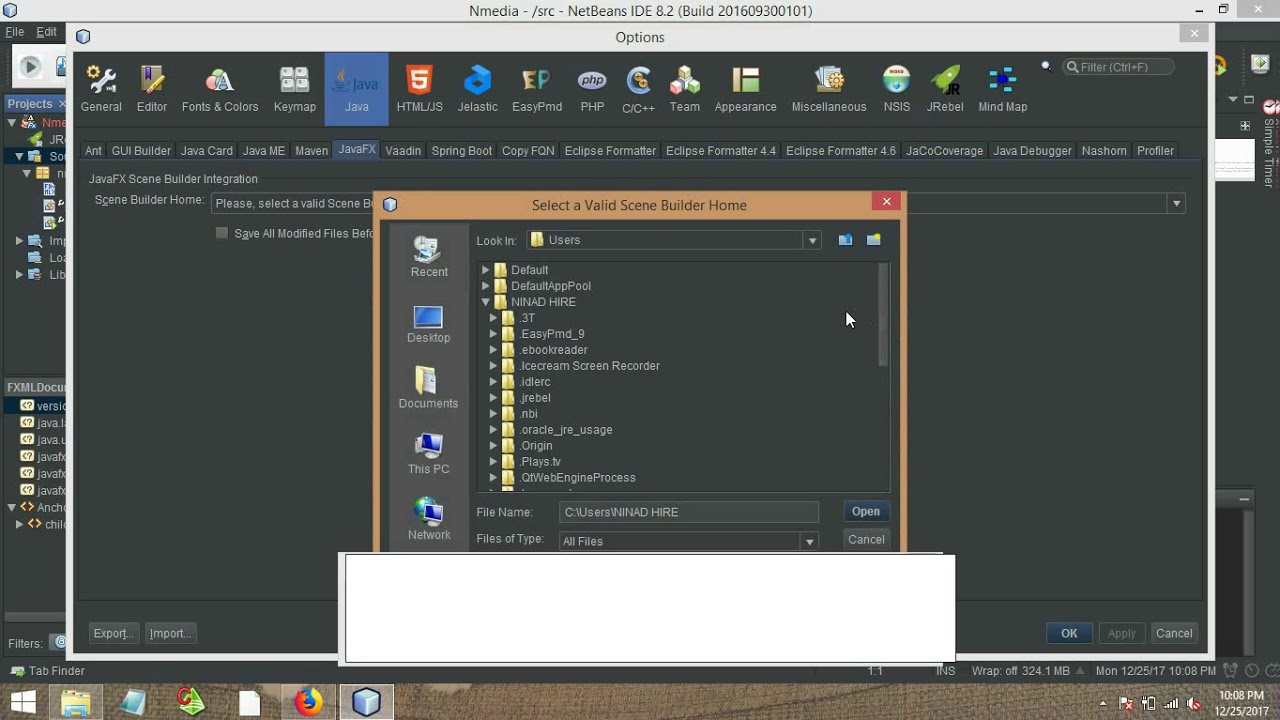 Fxml file not opining in scene builder issue solve