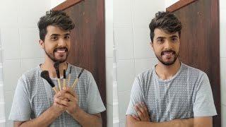Maquiagem Masculina - Escondendo Espinhas com Sombra Verde
