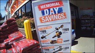 Магазин Home Depot США Влог Memorial Day (USA America 2016)