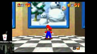 FAIL! Beat Super Mario 64 Without Dying! [Ironman Challenge] (Lower sound I yell)