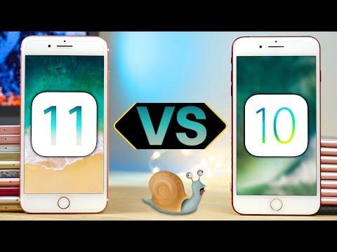iOS 11 Beta 1 vs 10.3.2 Speed Test ALL iPhones! Is iOS 11 Slower?