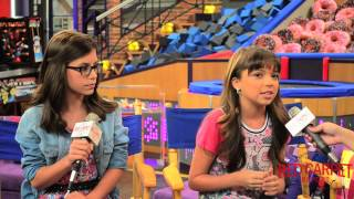 Madisyn Shipman & Cree Cicchino at Nickelodeon's Game Shakers Set Visit #‎GameShakers