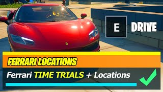 FERRARI 296 GTB Locations & ALL Complete Ferrari 296 GBT Time Trials WORKING Locations - Fortnite