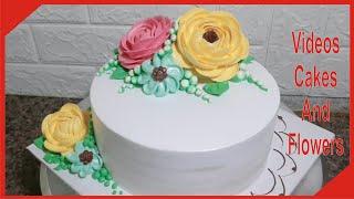 Cách Làm Bánh Kem Với Hoa Đơn Giản │Decorate cake easily with flowers