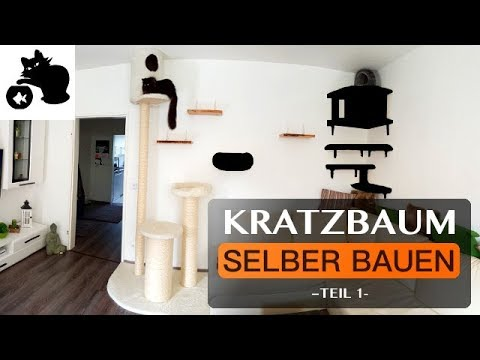 kratzbaum selber bauen diy kratzbaum kletterwand f r. Black Bedroom Furniture Sets. Home Design Ideas