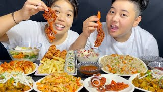 Spicy Pork, Chicken Mixture, Momos Mukbang | Shiyong Kitchen | Meitei Mukbang