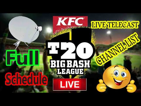 Big Bash League 2019-20 Full Schedule And Live Telecast Channel List.