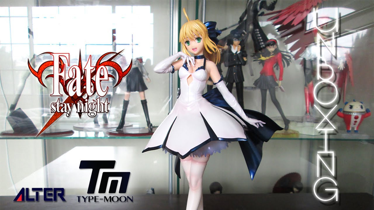 Unboxing figure review type moon th anniversary saber dress