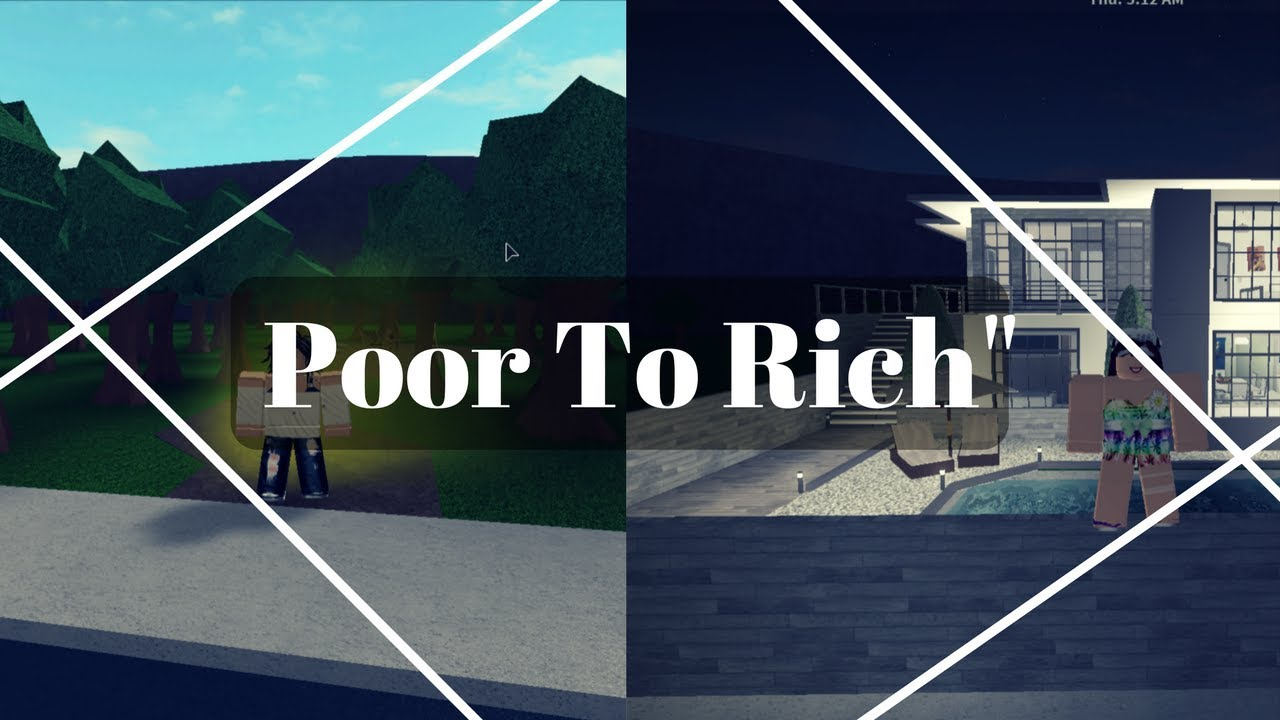 Poor To Rich 1 Welcome To Bloxburg Short Movie Youtube