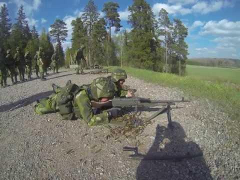 FN MAG 7.62 mm GPMG firing