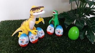 DINOSSAUROS... Kinder Ovo - Dinosaurs Surprise Eggs - Динозавры Сюрприз яйца ÍSIS PORTILHO