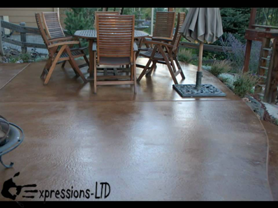How to acid stain a concrete patio floor youtube for Acid wash concrete patio