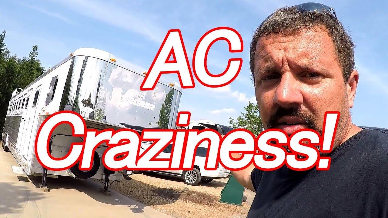 Crazy Rv Horse Trailer Ac Install