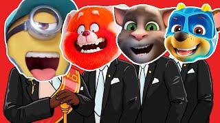 Funniest Minions \u0026 Turning Red \u0026 Talking Tom \u0026 Paw Patrol - Meme Coffin Dance COVER