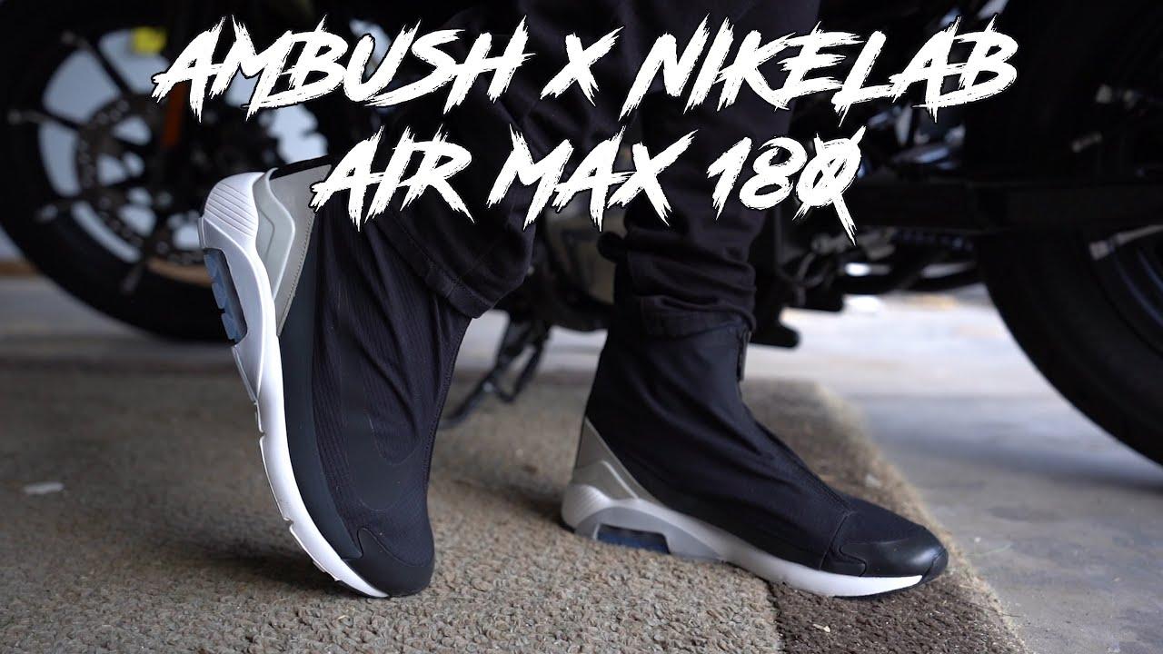 Nike Air Max 180 Ambush Black On Feet Youtube