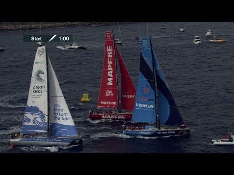 AFP: Voile: départ de la Volvo Ocean Race 2017