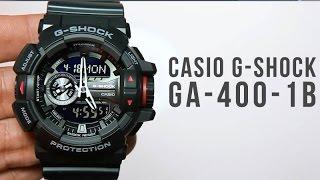 Casio G-shock GA-400-1B : Unboxing & Light demo