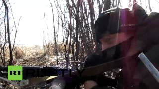 ukraine dnr dpr footage shows intense logvinovo frontline fighting