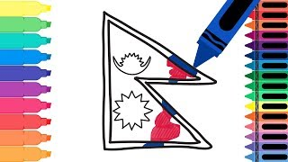 How to Draw Nepal Flag - Coloring Pages for kids - Drawing the Nepalese Flag | Tanimated Toys