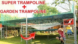 WHAT IF YOU COMBINE 2 TRAMPOLINES?!