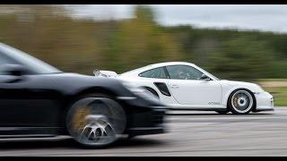 Porsche 911 GT2 RS vs Porsche 991 Turbo S Mk II facelift 620 vs 580 HP (both stock)