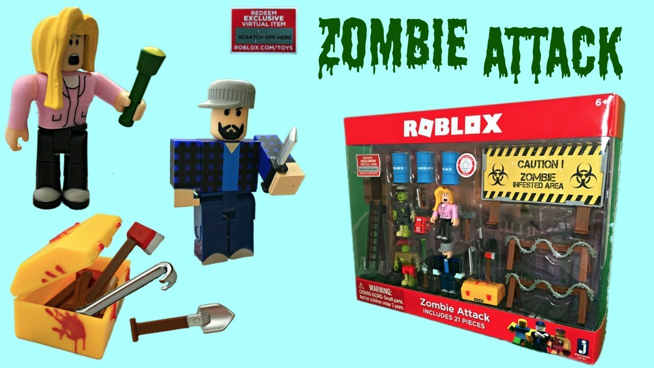 Roblox Zombie Attack Toy Code Item Series 2 Stop Motion - roblox zombie attack codes