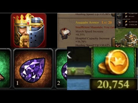 CLASH OF KINGS 20,000 GOLD ON TROOPS.CRAZY ITEMS