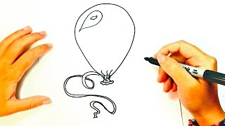 How to draw a Balloon | Balloon Easy Draw Tutorial