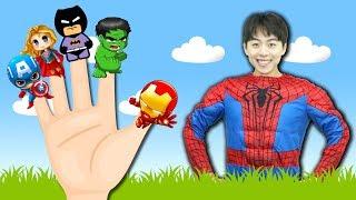 슈퍼 히어로 손가락 동요 핑거송 Finger Family Superheros | Kids Songs and Nursery Rhymes - 마슈토이 Mashu ToysReview