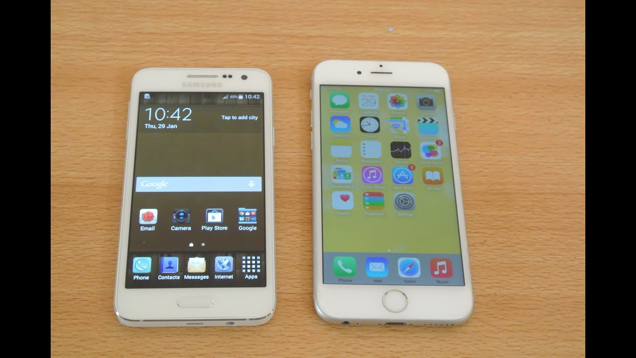 samsung a3 vs iphone se