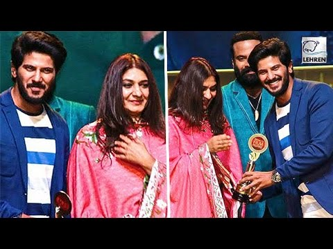 Dulquer Salmaan Receiving Award From Mother