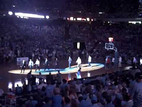 2009 National Championship Banner during Halftime of UNC Alumni Game