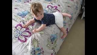 8-month old baby getting off the bed